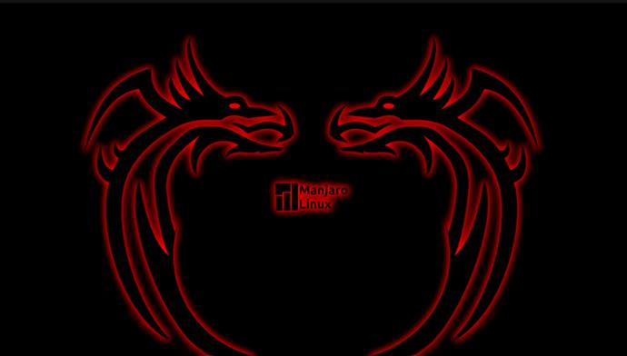 Manjaro_Neon_Red_Dragons