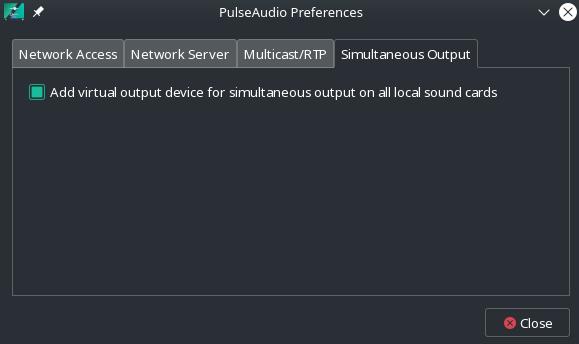 simultaneous audio output