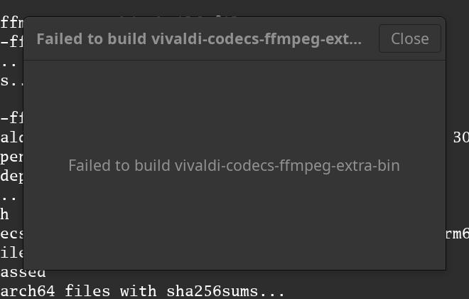 Failed to build